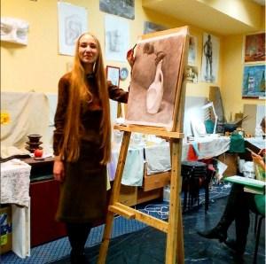 117- 1 мес Маргарита Лискунова, начинающий художник, микро-биолог, Быхов.35 Инст.Кул.