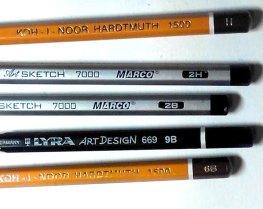 маркировка простых карандашей