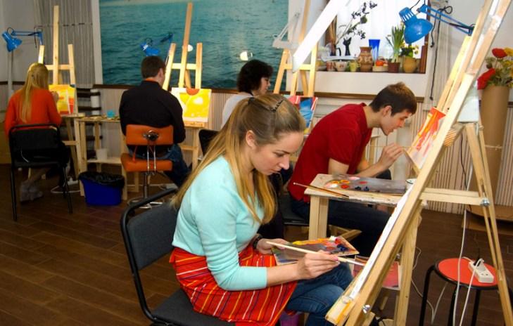 живопись в студии корпоративный мастер-класс