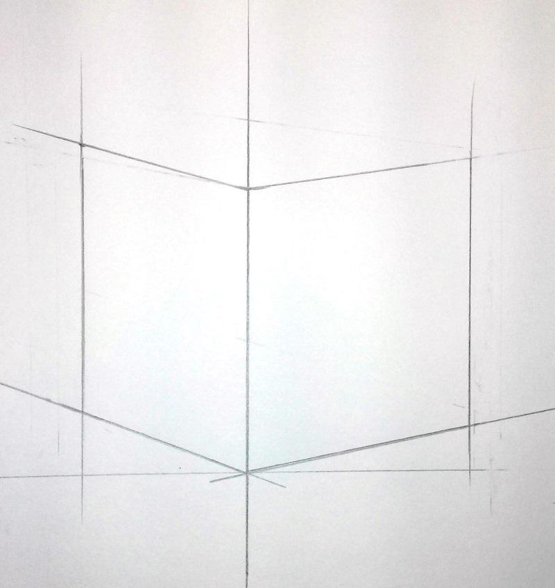 Изображение верхних ребер куба