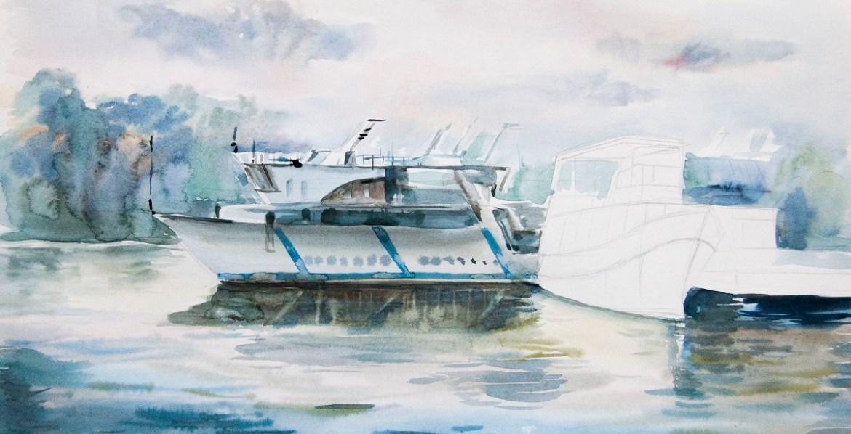 Прорисовываем отражения в воде