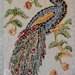 Ave do Paraíso. Medindo 1,50mt x 1,20. Arte feita em tecica de mosaico. Esta obra é uma das preferidas da artista
