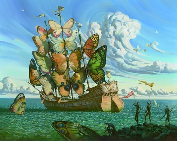 Vladimir Kush pinturas que te hacen pensar 8
