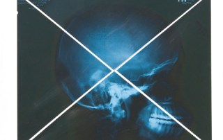 Skull by Jamie Martinez using triangulism and his own X-Rays