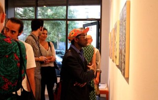 Perusing the work at f&p during the LES Art Walk