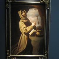 "Francisco DE ZURBARÁN ""Saint Francis in Prayer"" circa 1650 oil on canvas 62 x 40 inches €900,000 at Galería Caylus"