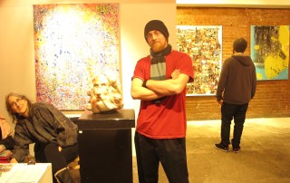 Artist and co-founder Blake Emory at the opening of his new gallery