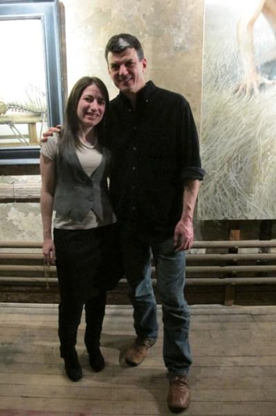 Organizers (L-R) Jennifer Wallace of nAscent Art NY & Mikel Glass