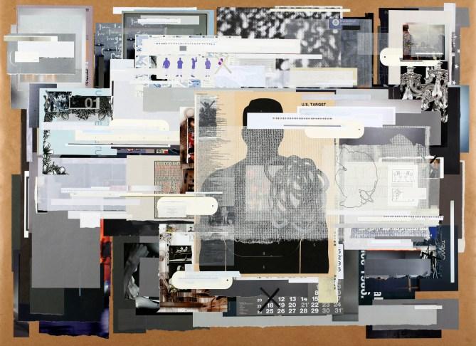 1.) Tm Gratkowski-Profiling Suspicion_2011_paper on paper_44inx60in_$6,500 framed.