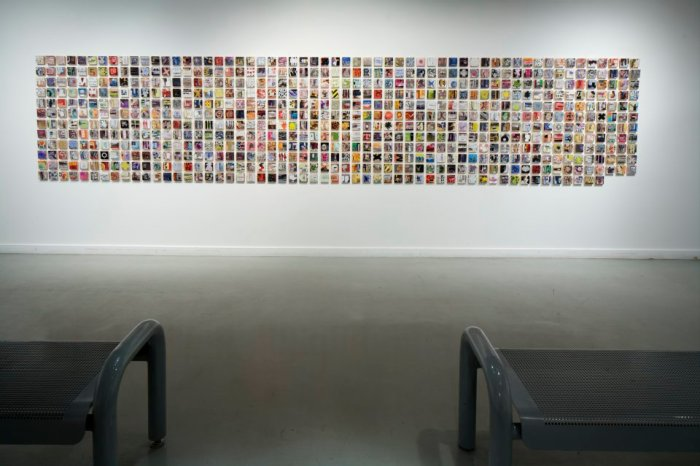 5.) 678_2012_paper on 678 3inx3in wood blocks (created in 678 hours)_53inx255.5in_$20,000.