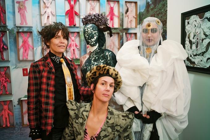 (L-R) A Strange Loop Portrait with Alesia Exum, Claire Fleury and performer Domonique Echeverria