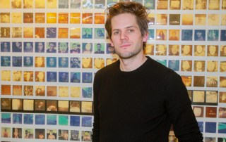Artist Ryan Piers Williams at his opening photo by Moises DePena