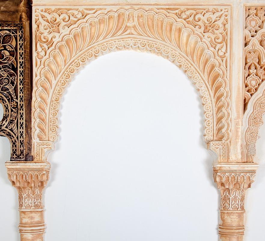 Arcos de escayola mud jar artesanos juntos - Escayola decorativa techo ...