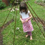 teepee art and weaving ribbons