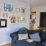 Our house of color: hanging children's art around the home