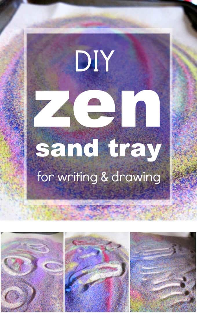 Make Your Own Zen Sand Tray for Kids Writing and Drawing