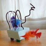 Wire Sculptures for Kids with Buttons, Beads & Feathers