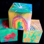 DIY Wooden Blocks :: Melted Crayon on… WOOD!
