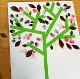 Mixed Media Autumn Trees Kids Art