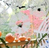 Coffee Filter Spiderwebs with Spiders