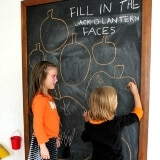 Fill in the Jack O Lantern Faces