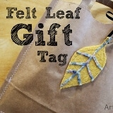 DIY Felted Wool Leaf Gift Tag