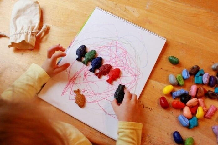 Shaped Crayons Creative Drawing for Kids 05