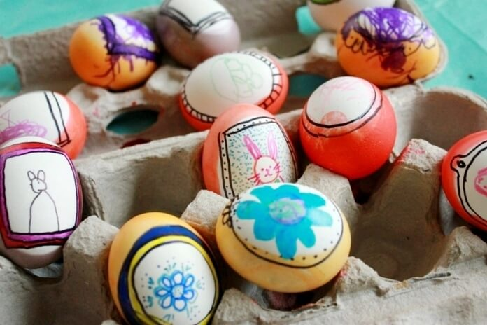 Easter Eggs Drawing in Frames 47