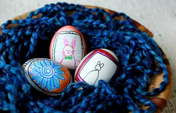 Easter Eggs Drawing in Frames 54