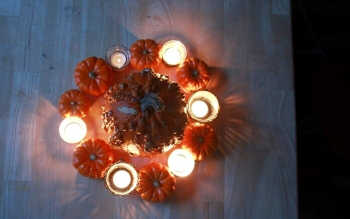 Pumpkins and Black Lace Candles 4