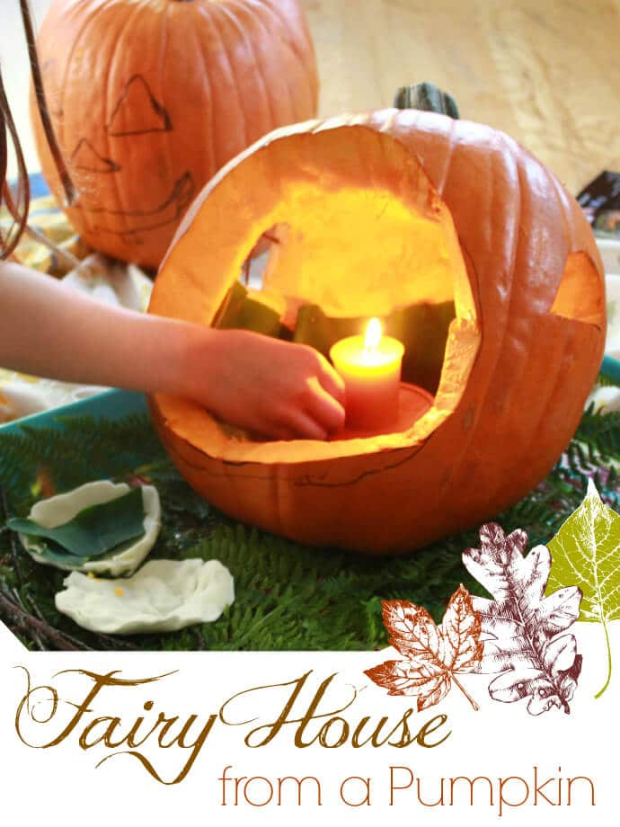 A Fairy House from a Pumpkin!