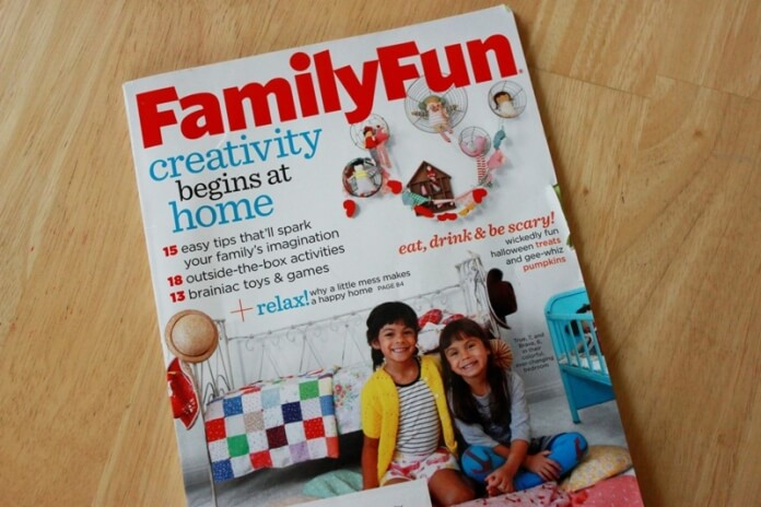 Kids Creativity Article in FamilyFun Magazine