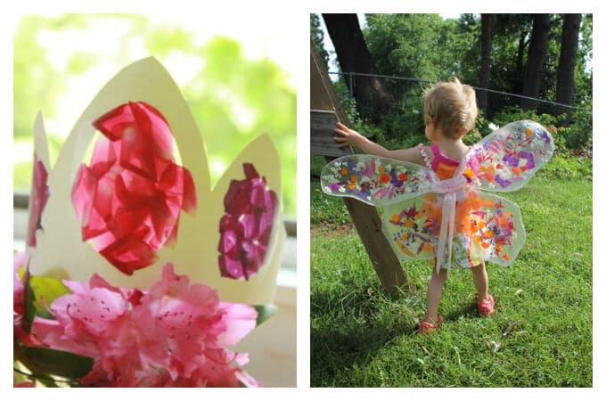 Spring Crafts Kids Love - Flower crown and wings