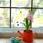 Easter Egg Suncatcher Craft with Flower Petals