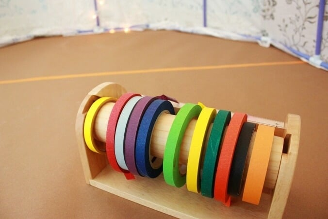 Masking Tape Art Project for Kids