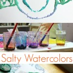 Watercolor and Salt Painting :: Revisiting an Old Favorite