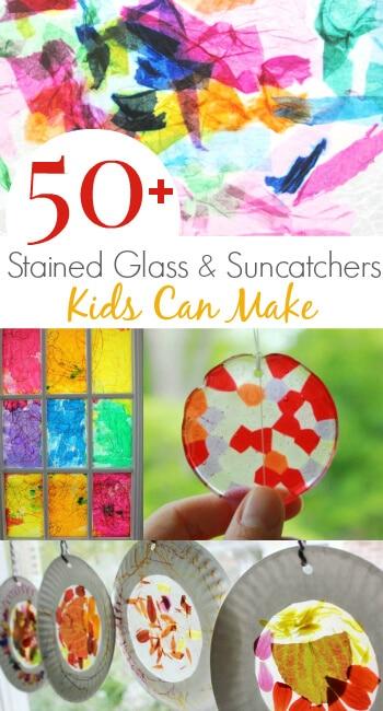 Stained Glass and Suncatcher Crafts Kids Can Make