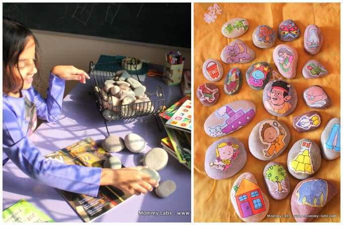Story Stones Ideas - Story Stones as a Party Activity on Mommy Labs