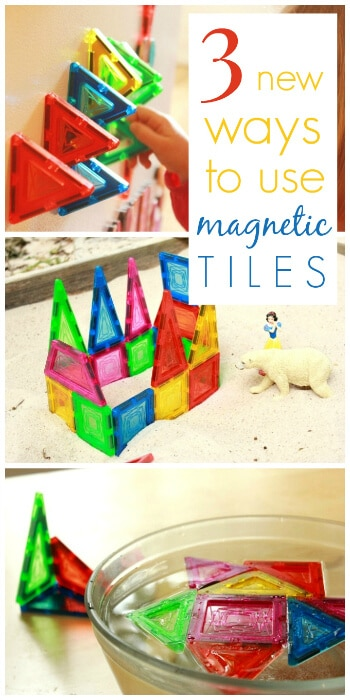 3 New Ways to Use Magnetic Tiles for Kids - Fridge, Sand, Water