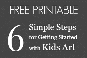 6 Simple Steps for Getting Started with Kids Art Printable
