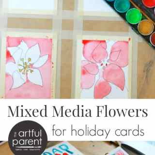 How to Create Mixed Media Flowers