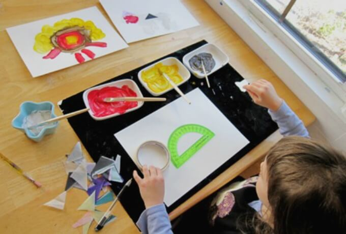 Kids Art Activity - Tracing Shapes and Toys