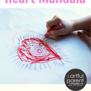 A Valentines Day Art Activity :: Interactive Heart Mandalas