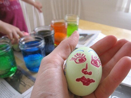 A Melted Crayon Easter Egg Face
