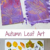Fall Leaf Art with the Scratch Art Technique