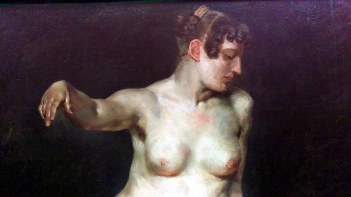 Delacroix Nude - Berlin National Gallery