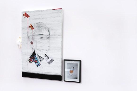 Pencil, oil, paper on canvas, Format 110 x 160 cm