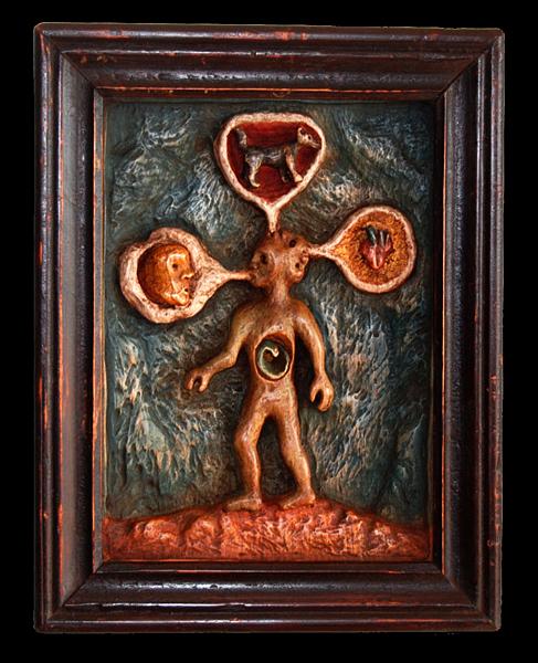 Cracheur de vie, Olivier Blot Peinture sculptée