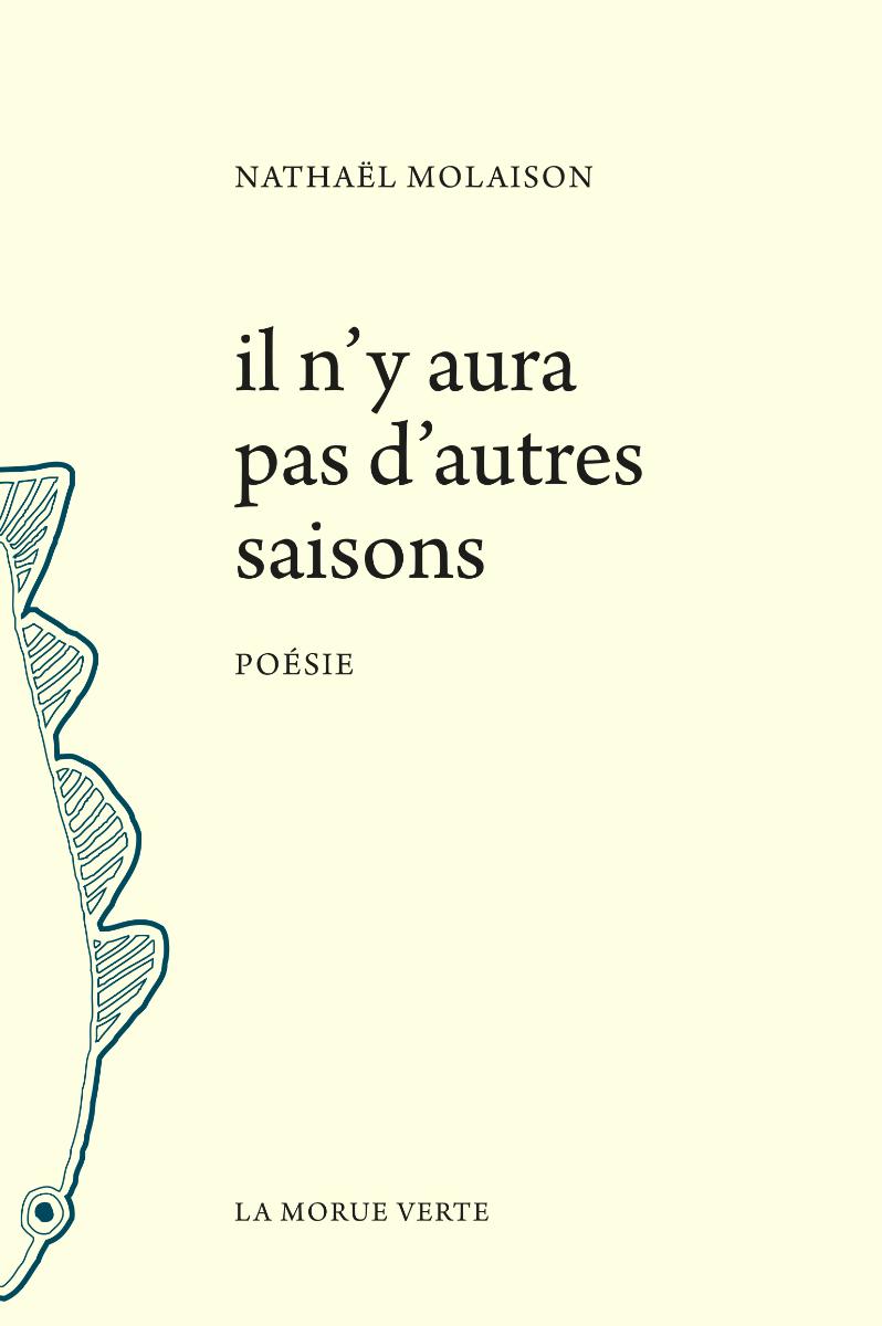 Page couverture du recueil « il n'y aura pas d'autres saisons » Source: site web des éditions la Morue verte