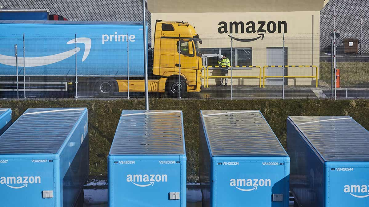 How to Get the Best Amazon Prime Day Deals   Consumer Reports Photos of trucks gearing up for the best Amazon Prime Day deals
